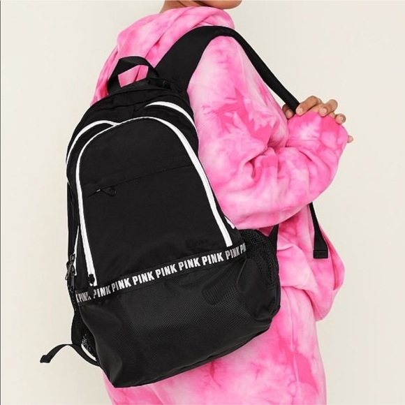 VS Pink BLACK Laptop Backpack, New in Package